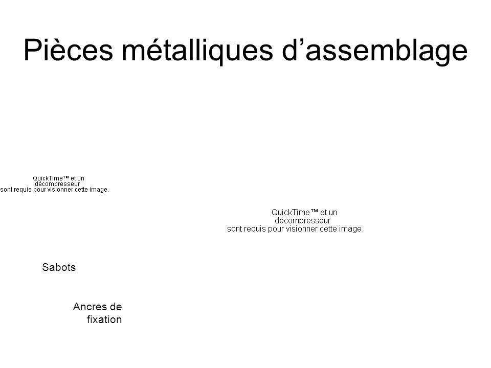 Pièces métalliques dassemblage Sabots Ancres de fixation