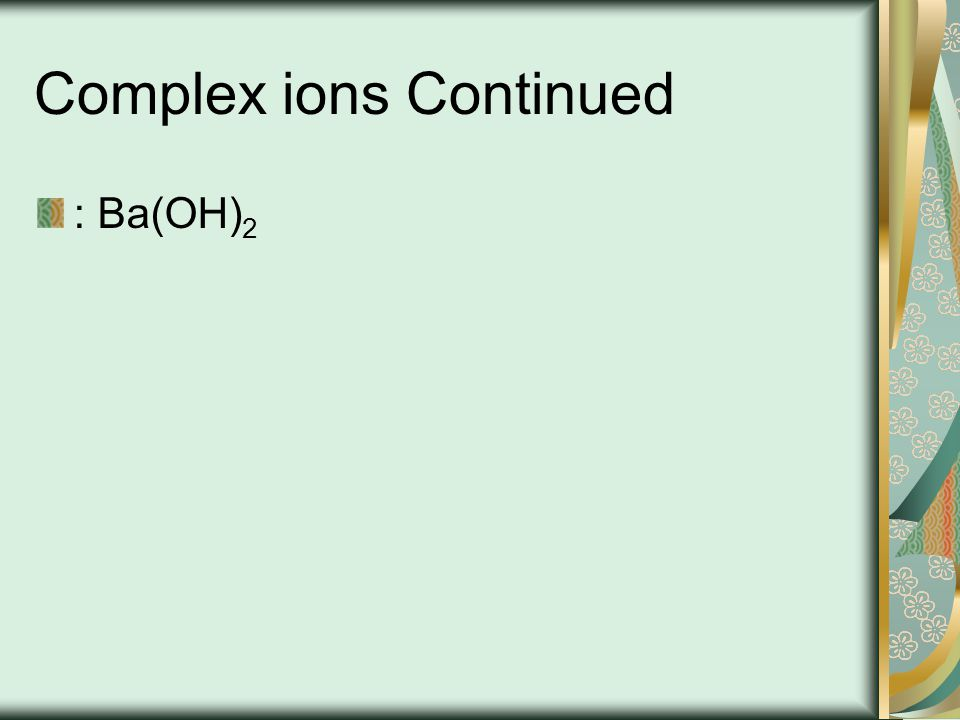Ions polyatomique SO 3 2- OH - hydroxyde PO 4 3- phosphate ?: carbonate de calcium ?: nitrure d ammonium