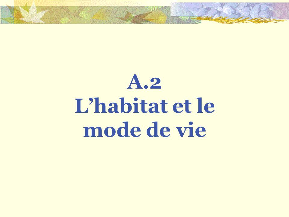 A.2 Lhabitat et le mode de vie