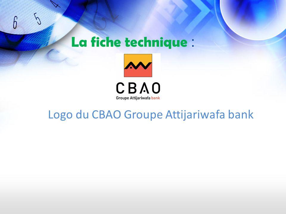 La fiche technique : Logo du CBAO Groupe Attijariwafa bank
