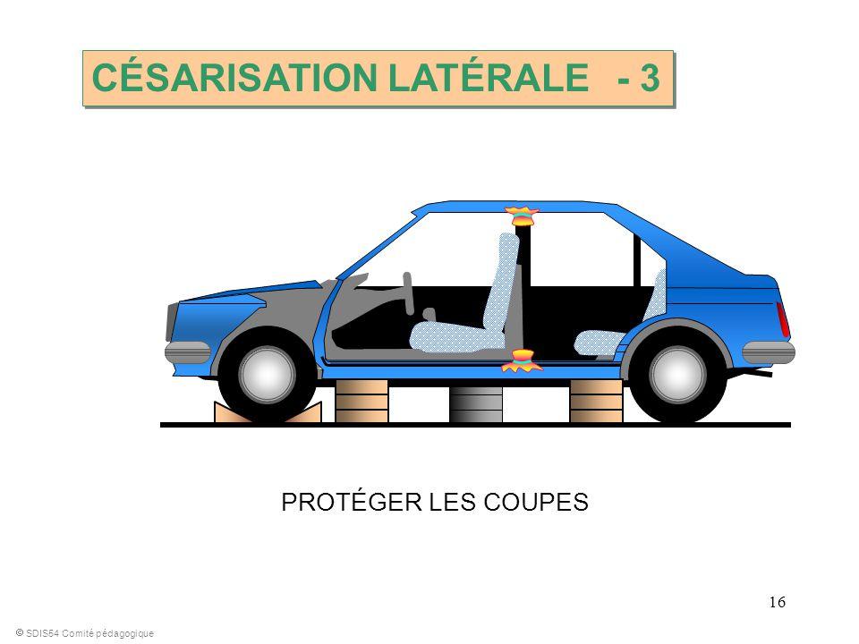 16 PROTÉGER LES COUPES SDIS54 Comité pédagogique CÉSARISATION LATÉRALE - 3