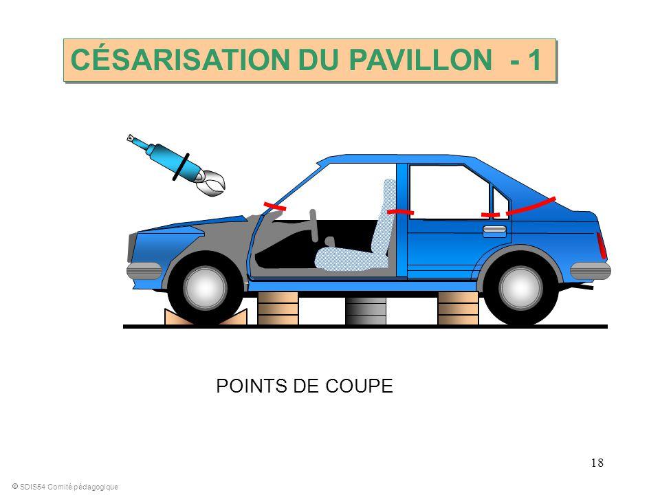 18 CÉSARISATION DU PAVILLON POINTS DE COUPE SDIS54 Comité pédagogique - 1