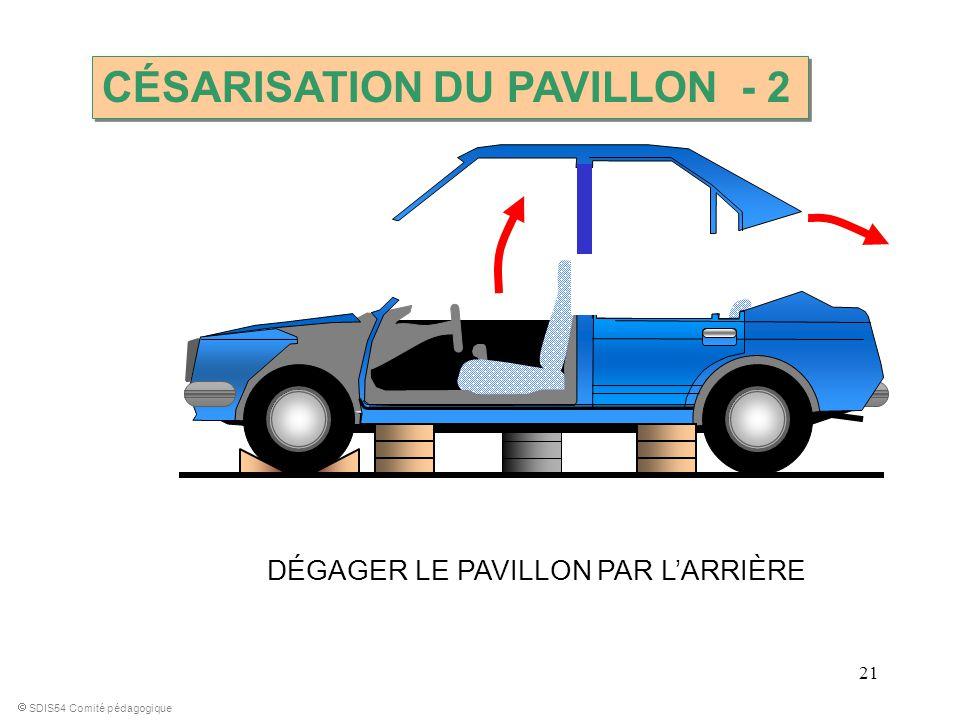 21 SDIS54 Comité pédagogique DÉGAGER LE PAVILLON PAR LARRIÈRE CÉSARISATION DU PAVILLON - 2
