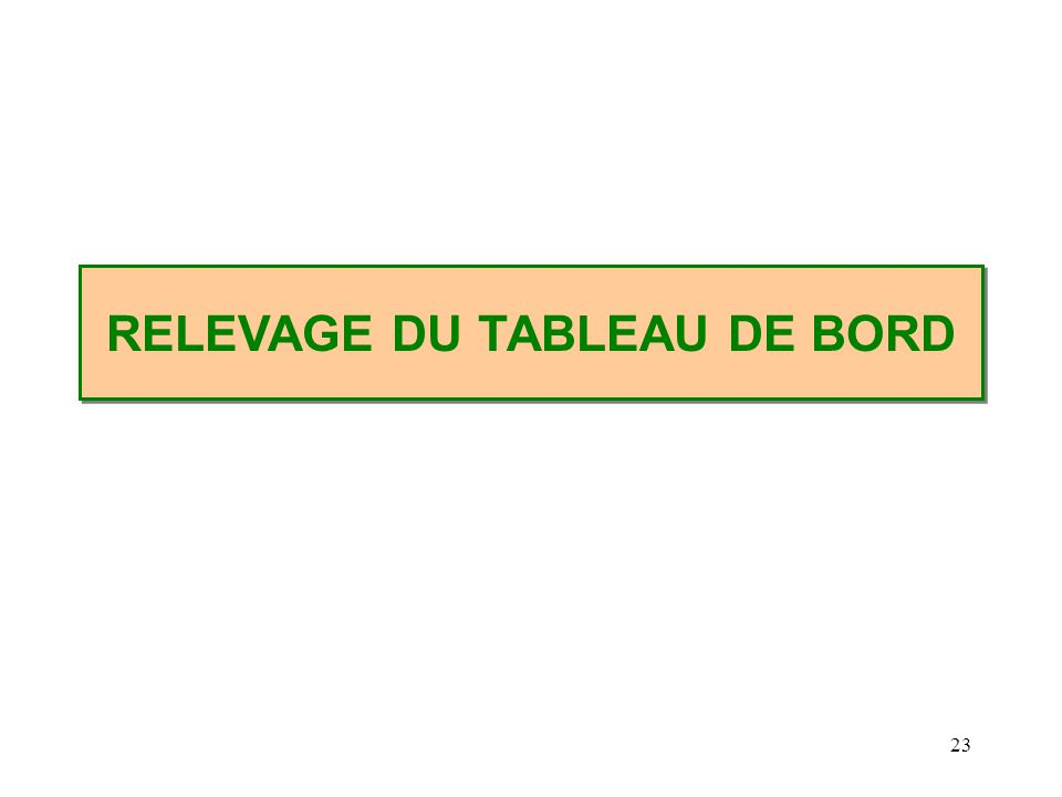 23 RELEVAGE DU TABLEAU DE BORD