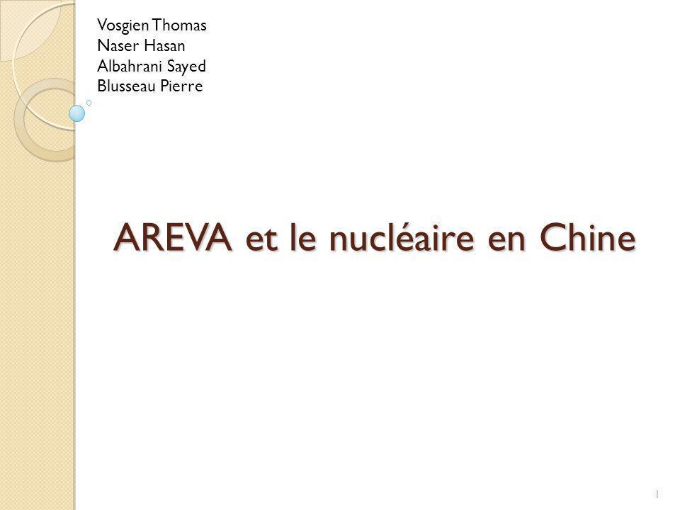 Plan Introduction I.Contexte II. AREVA en Chine III.