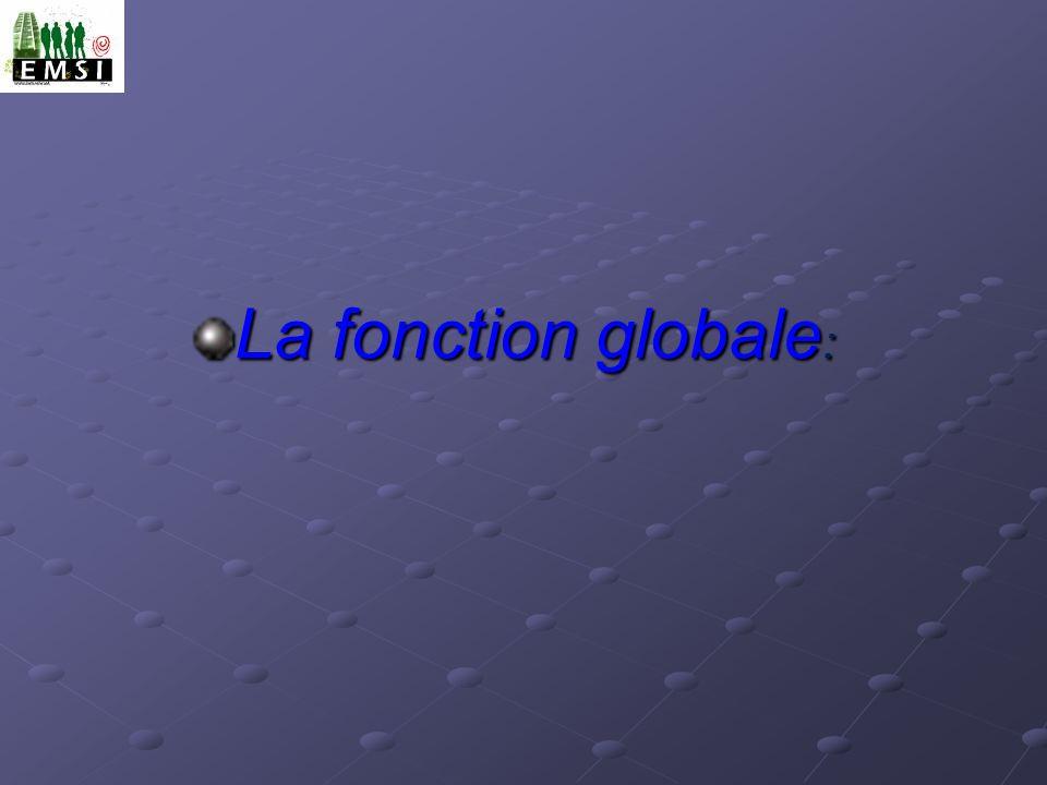 La fonction globale :