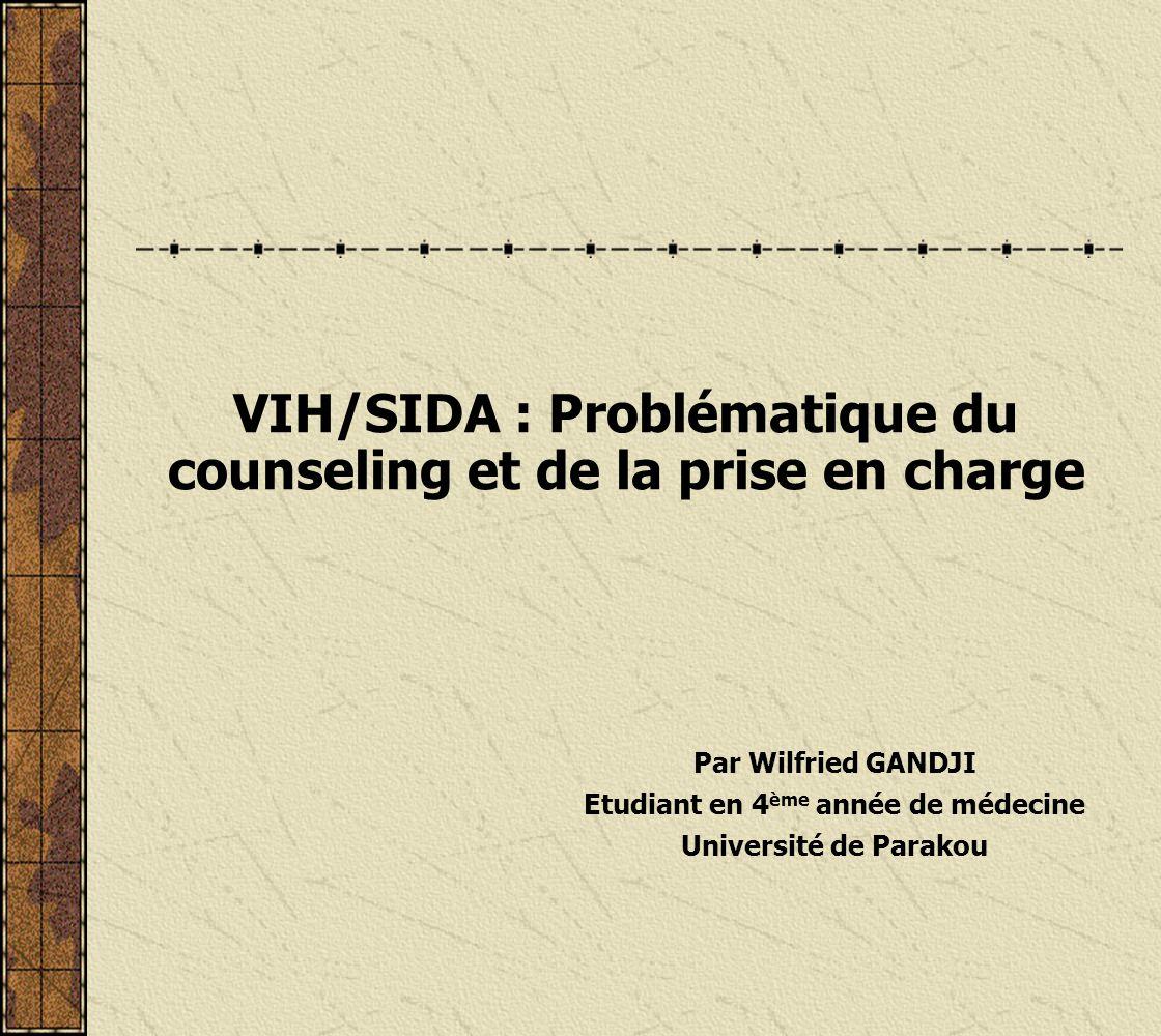 Ainsi donc, pour un bon counseling, le conseiller doit savoir quil ny a pas de recette standard et chaque patient a des particularités et surtout que les réactions du patient sont imprévisibles.