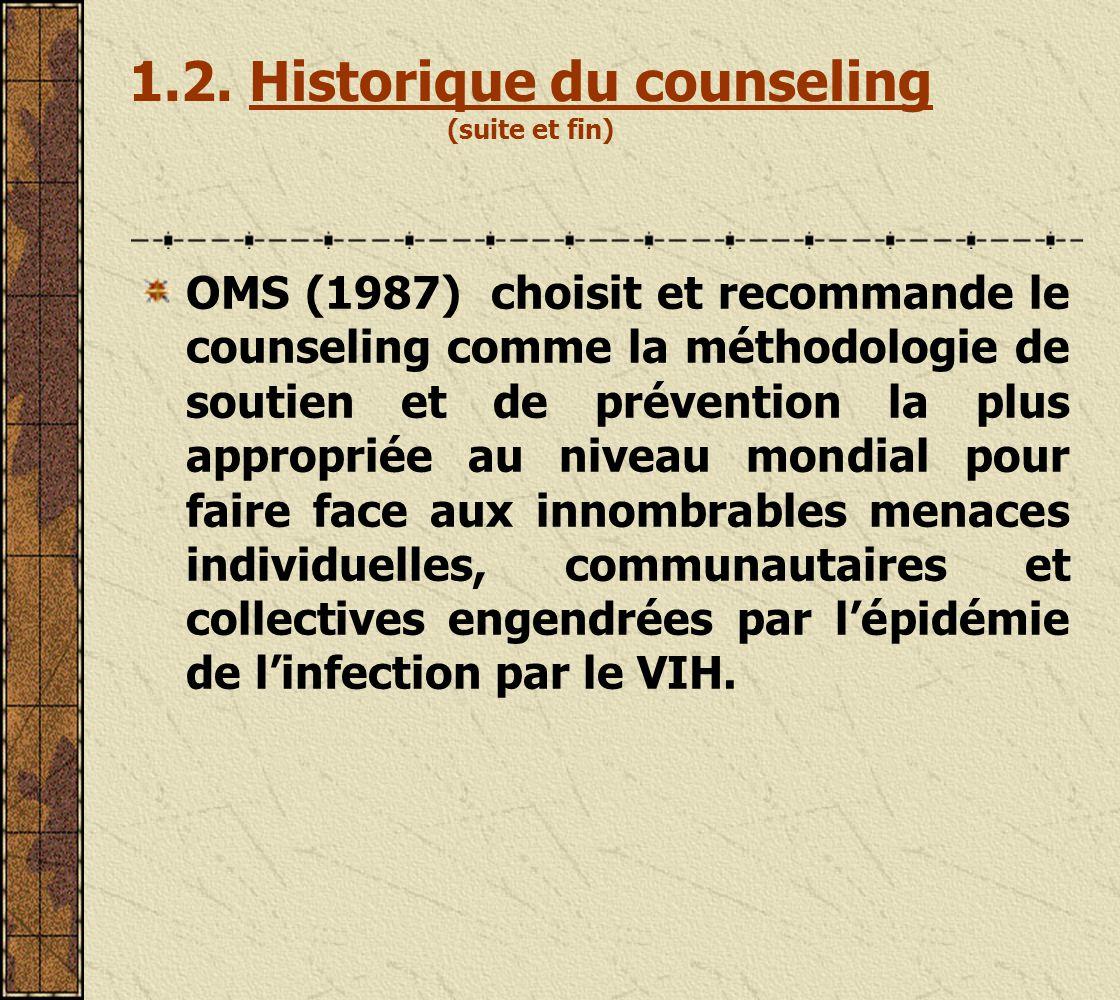 En France, le counseling a été introduit en 1928 sous la forme de conseil dorientation professionnelle.