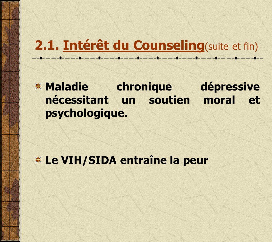 II.Bases du Counseling 2.1.