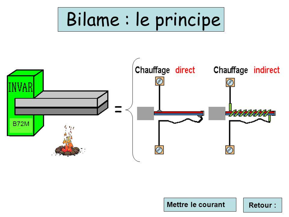 Mettre le courant Bilame : le principe B72M = Retour :