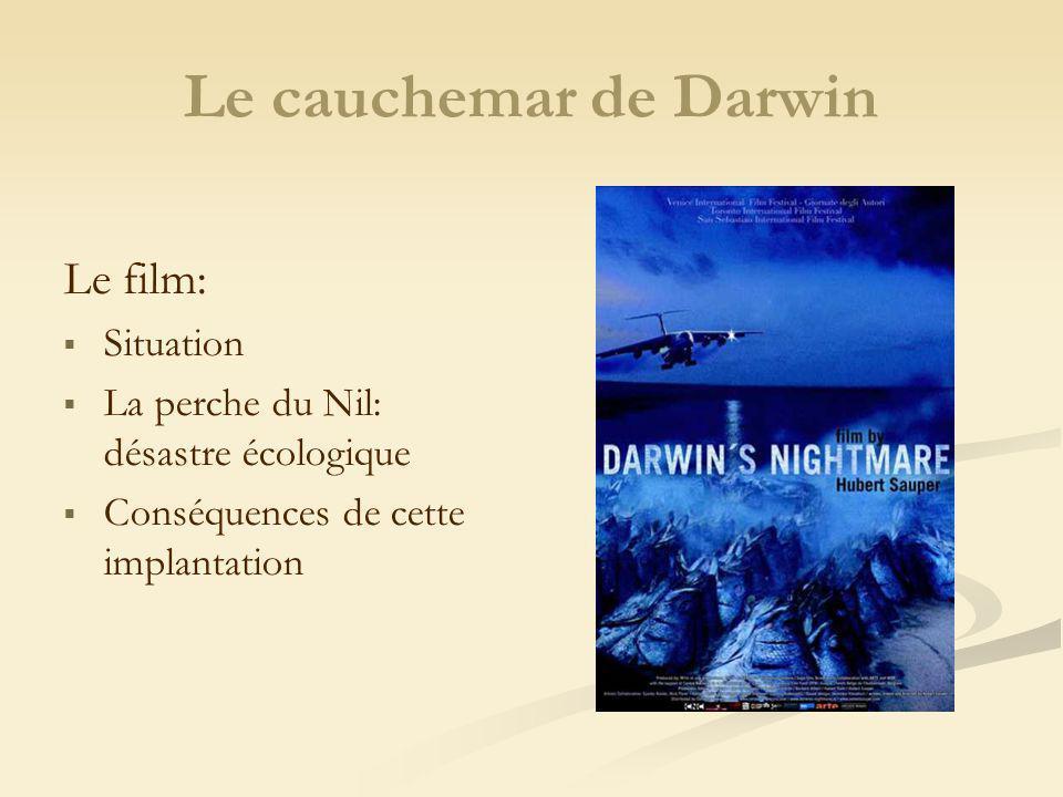 Le cauchemar de Darwin Le film: Situation La perche du Nil: désastre écologique Conséquences de cette implantation