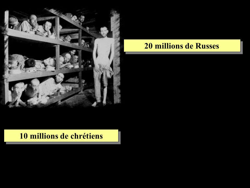 10 millions de chrétiens 20 millions de Russes