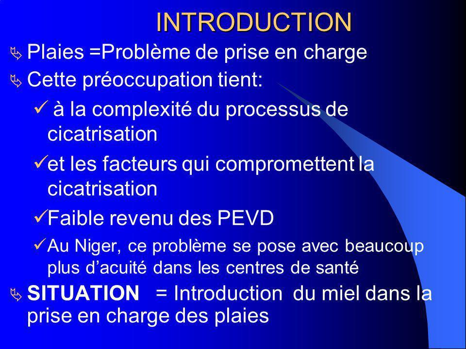 INTRODUCTION INTRODUCTION Plaies =Problème de prise en charge Cette préoccupation tient: à la complexité du processus de cicatrisation et les facteurs