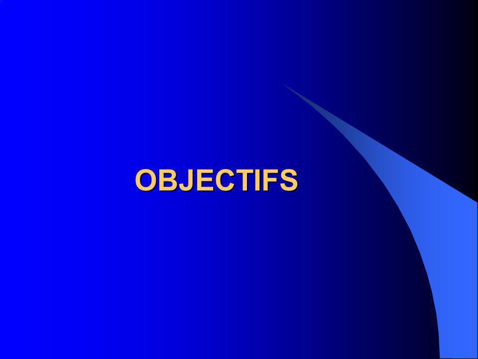 OBJECTIFS OBJECTIFS