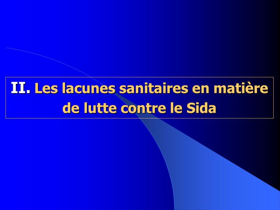 II. Les lacunes sanitaires en matière de lutte contre le Sida