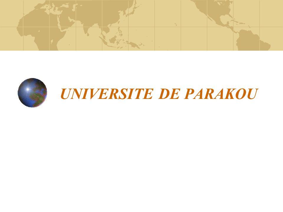 UNIVERSITE DE PARAKOU