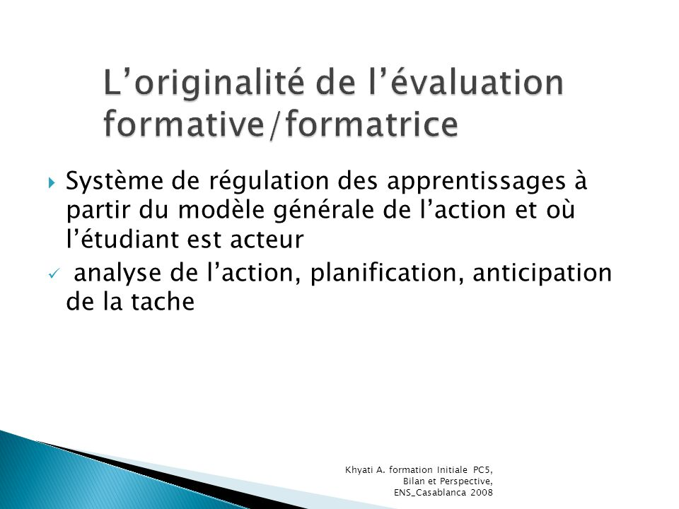 Système de régulation des apprentissages à partir du modèle générale de laction et où létudiant est acteur analyse de laction, planification, anticipa