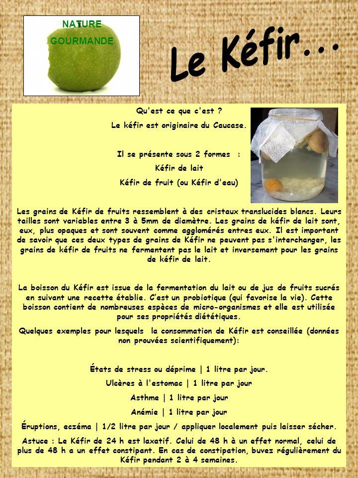 Pour la préparation de képhir fruits Poudre lyophilisée.