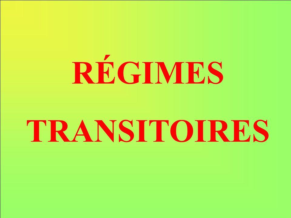 RÉGIMES TRANSITOIRES