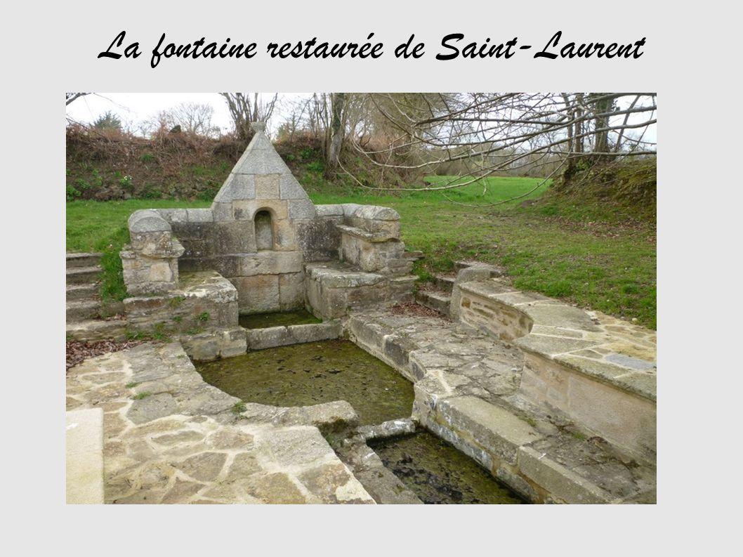 La fontaine restaurée de Saint-Laurent