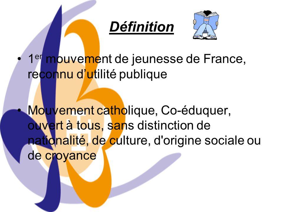 Définition 1 er mouvement de jeunesse de France, reconnu dutilité publique Mouvement catholique, Co-éduquer, ouvert à tous, sans distinction de nation
