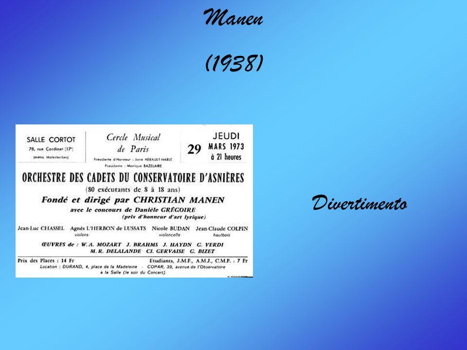 Manen (1938) Divertimento