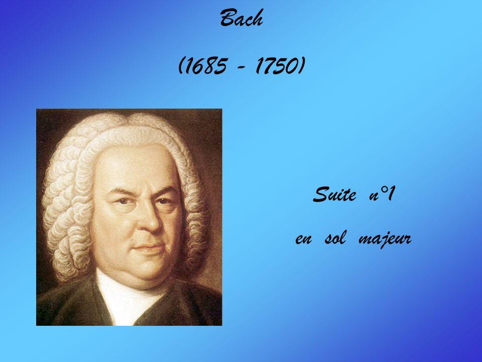 Bach (1685 - 1750) Suite n°1 en sol majeur