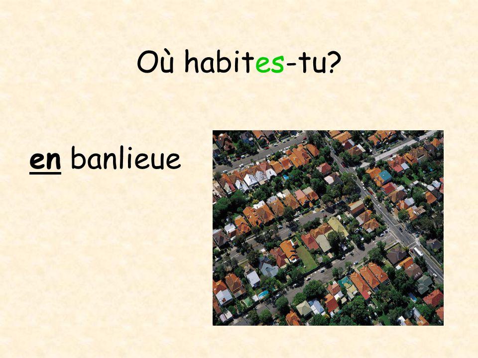Où habites-tu dans un village