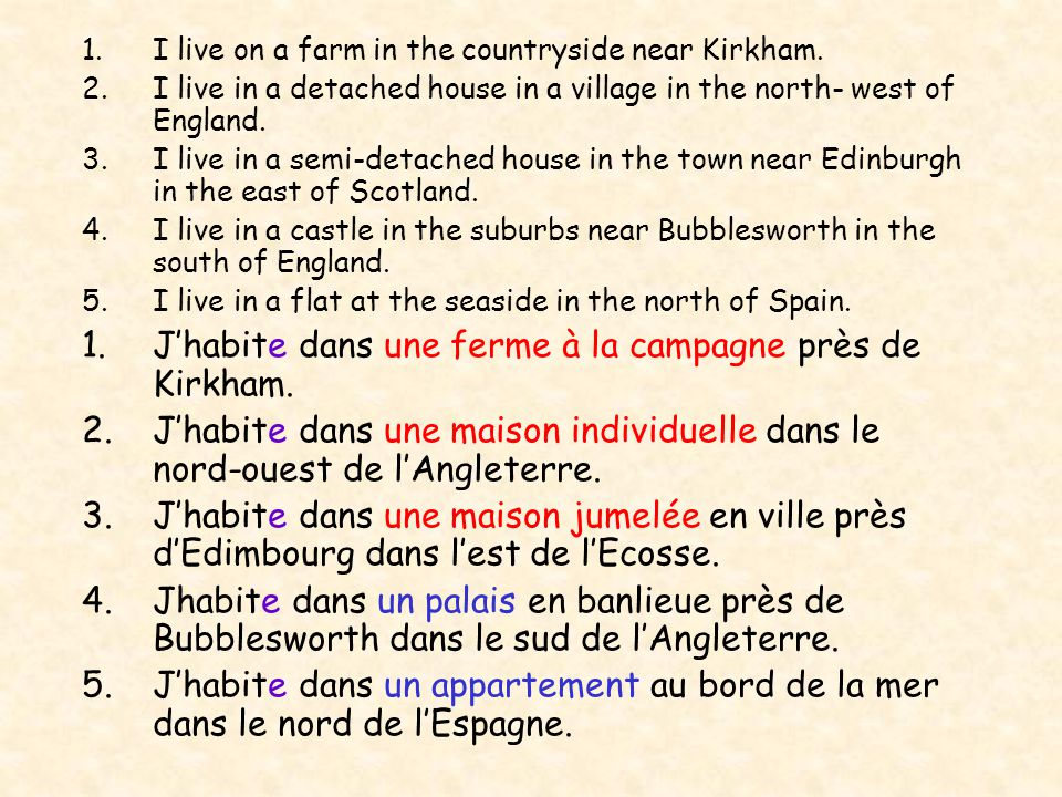 Rouen Dijon Toulouse Où habites-tu?