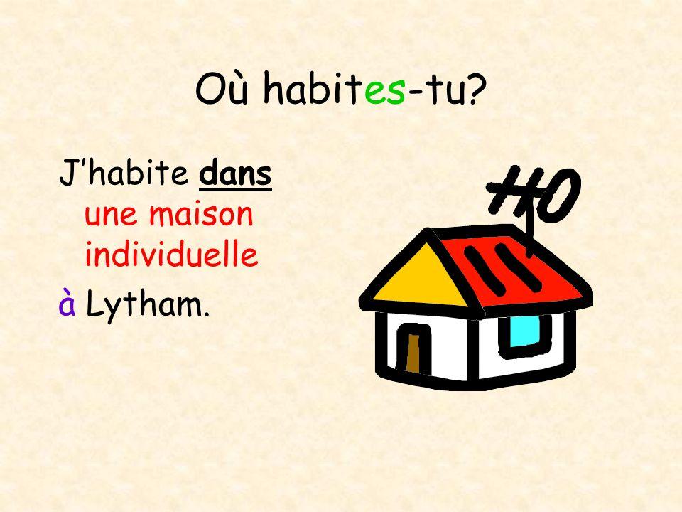 Où habites-tu.My name is Peter and I am twelve years old.