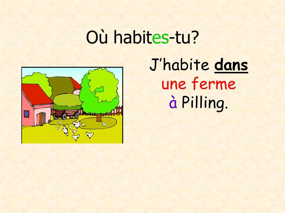 Avec un/une partenaire A: Où habites-tu.Alc B: Jhabite à la campagne A: Oui, cest correct.