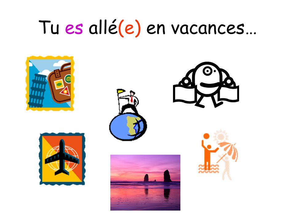 Tu es allé(e) en vacances…