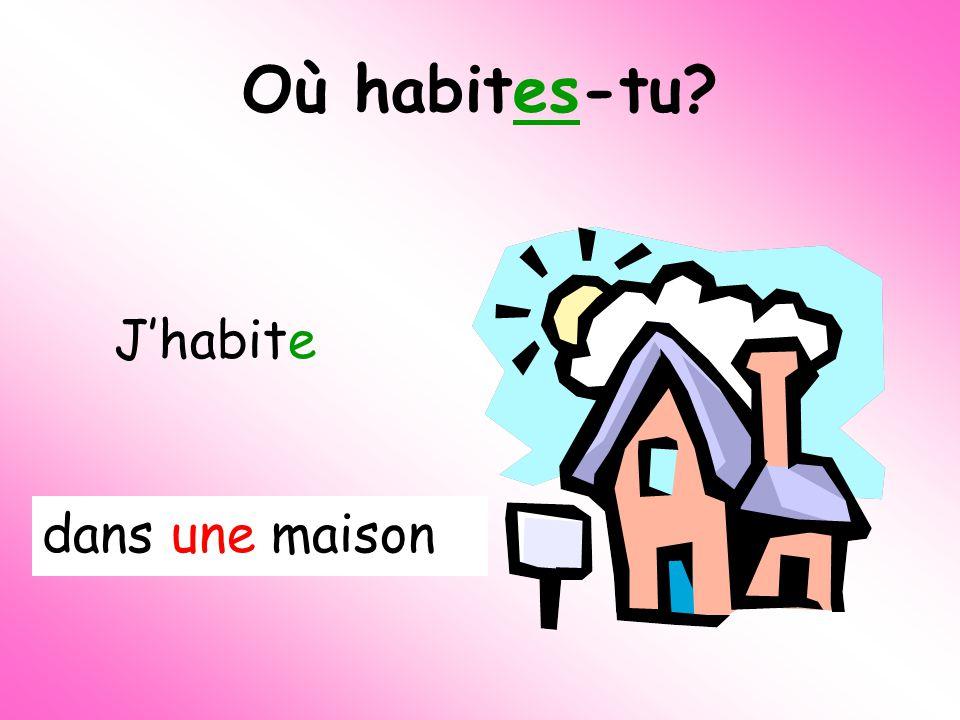Quest-ce quon va faire aujourdhui Où habites tu Talk about where you live in more detail