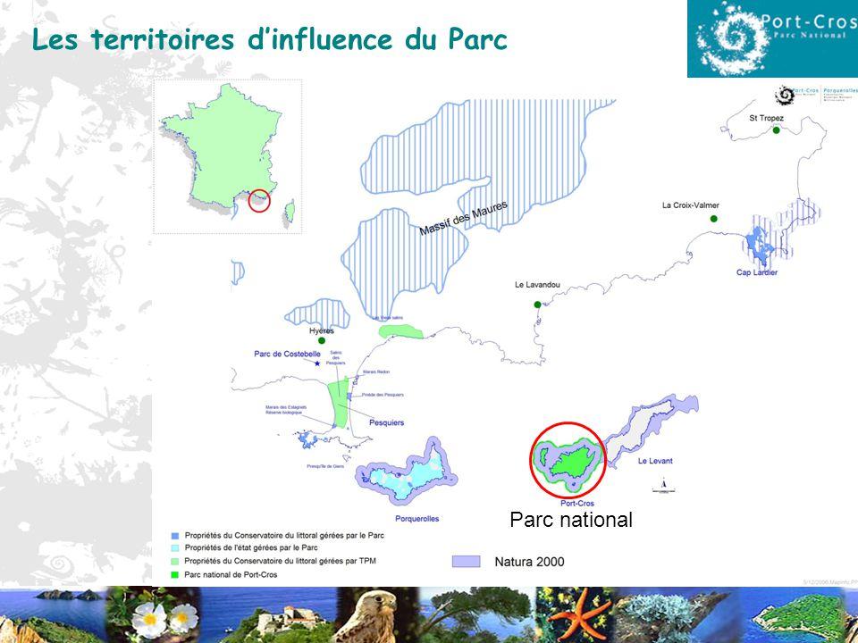 Les territoires dinfluence du Parc Parc national