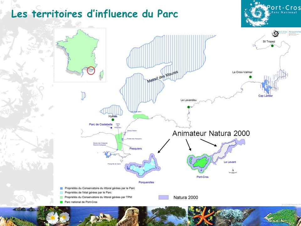 Les territoires dinfluence du Parc Animateur Natura 2000