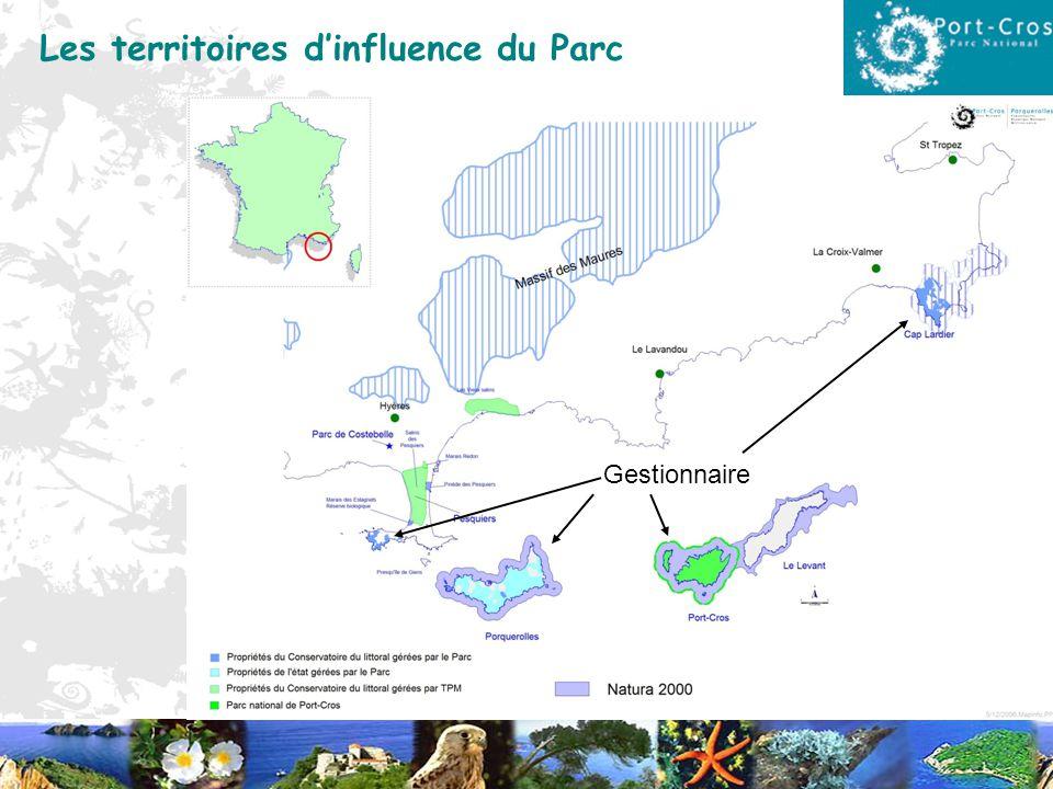 Les territoires dinfluence du Parc Gestionnaire