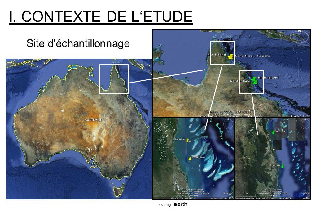 I. CONTEXTE DE LETUDE Site d'échantillonnage ©Google earth