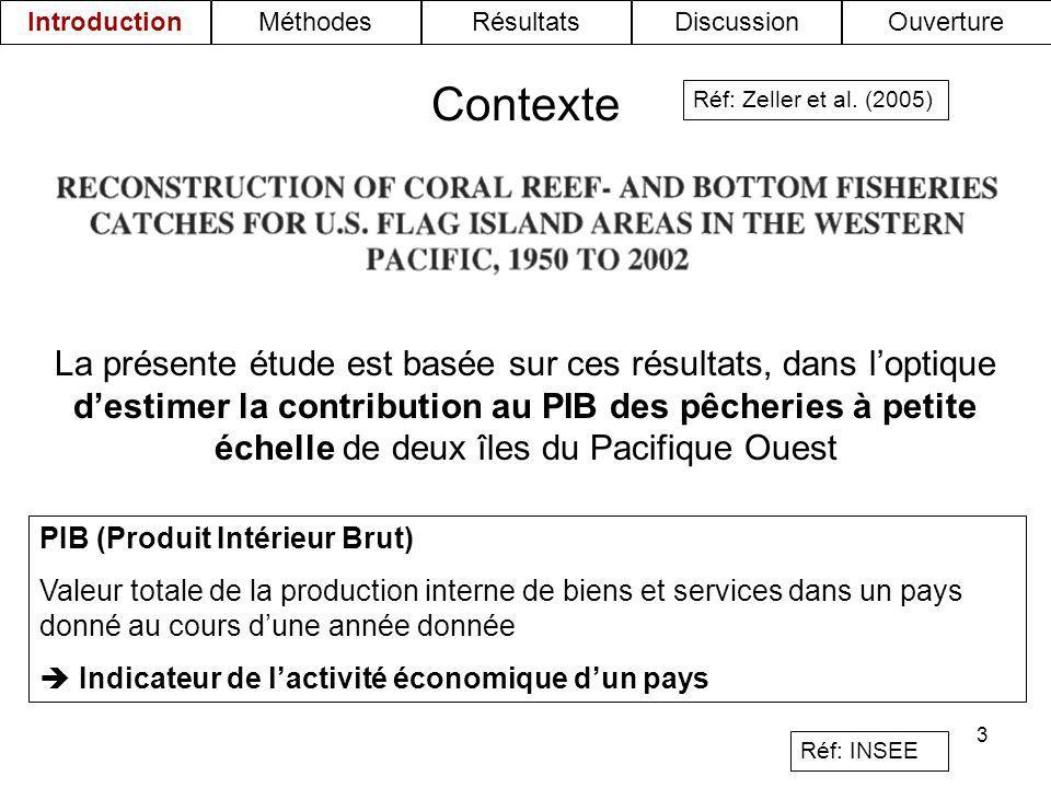 3 La présente étude est basée sur ces résultats, dans loptique destimer la contribution au PIB des pêcheries à petite échelle de deux îles du Pacifiqu