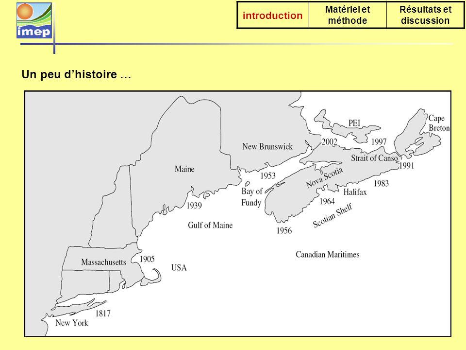 introduction Matériel et méthode Résultats et discussion 25 sites échantillonnés le long de la côte (1996-2001)+ 8 spécimens de musée (1959-1976).