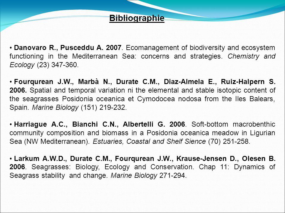 Bibliographie Danovaro R., Pusceddu A. 2007.