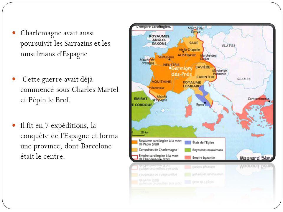 Charlemagne fut couronné empereur en l an 800.Il était le maître de l Occident.