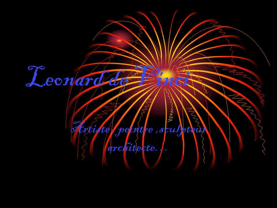 Leonard de Vinci Artiste, peintre,sculpteur architecte…