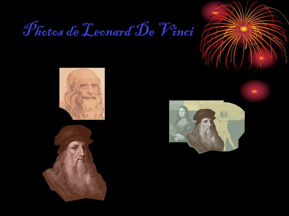 Photos de Leonard De Vinci