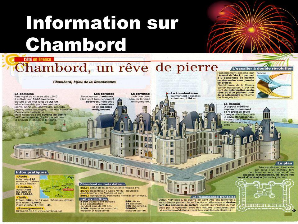 Information sur Chambord