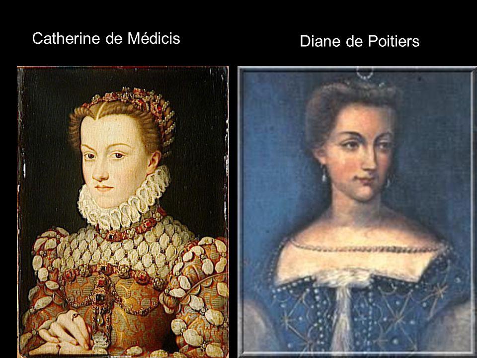 Catherine de Médicis Diane de Poitiers