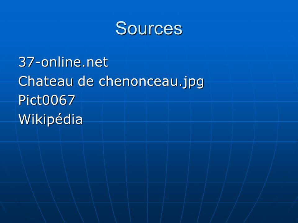 Sources 37-online.net Chateau de chenonceau.jpg Pict0067Wikipédia