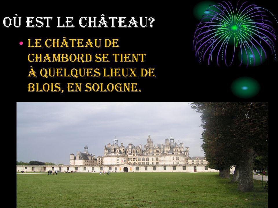 Où EST LE CHÂTEAU? Le château de Chambord se tient à quelques lieux de Blois, en Sologne.