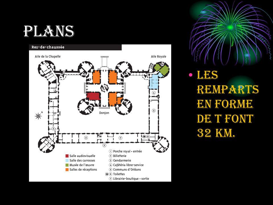 plans Les remparts en forme de t font 32 k m.