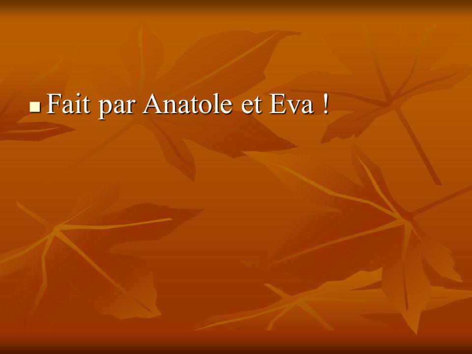 Fait par Anatole et Eva ! Fait par Anatole et Eva !