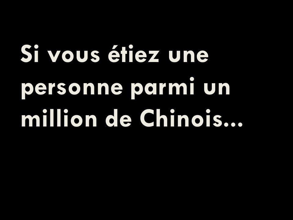 Si vous étiez une personne parmi un million de Chinois...